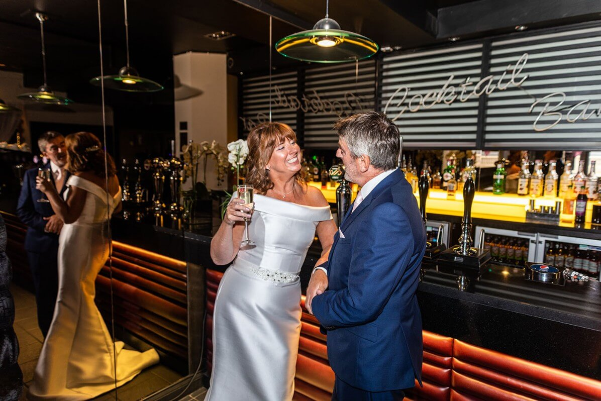 Bride and Groom enjoying evening reception - North East Wedding Photographer