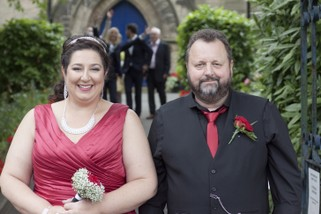 Bride and Groom leaving church - North East Wedding Photographer.jpg