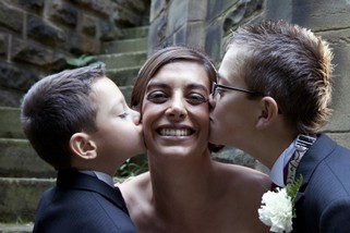 Bride with Children - North East Wedding Photographer.jpg