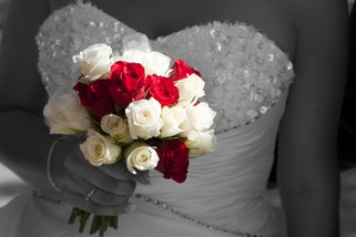 Bride with bouquet - North East Wedding Photographer.jpg