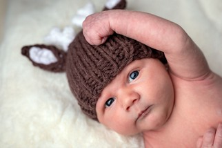 Newborn Baby in Deer Costume - North East portrait Photographer.jpg