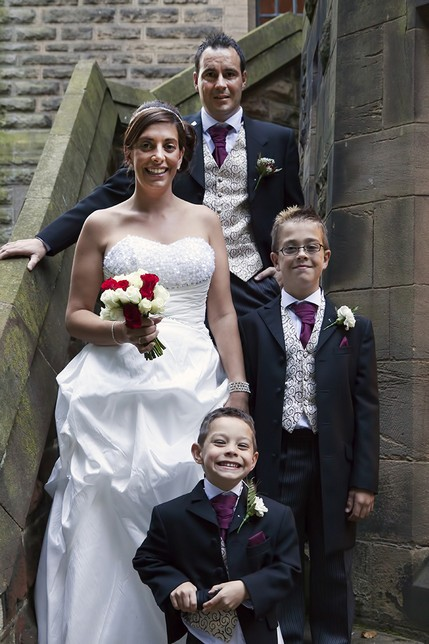 Bride and Groom with kids - North East Wedding Photographer.jpg