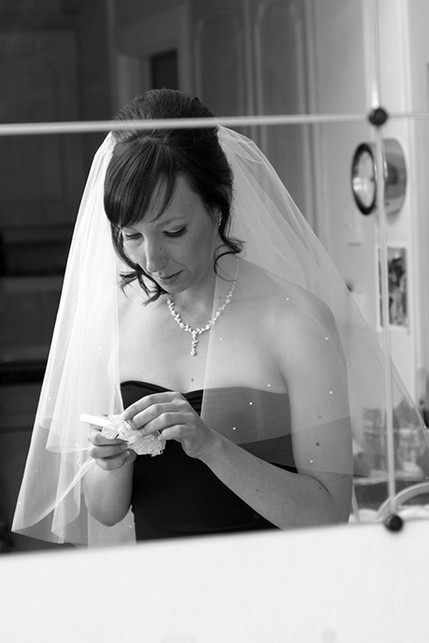 Bride in mirror - North East Wedding Photographer.jpg