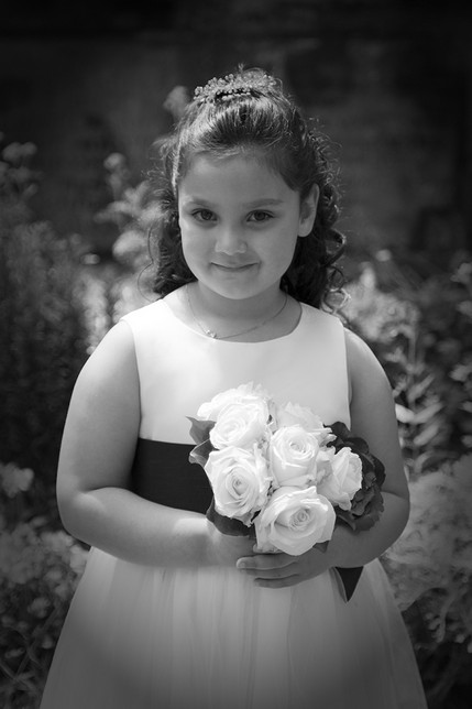 Bridesmaid with flowers - North East Wedding Photographer.jpg