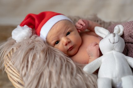 Newborn baby in Christmas hat - North East Wedding Photographer.jpg.jpg