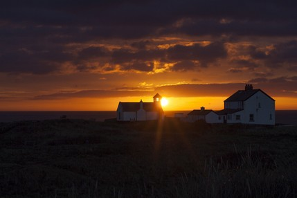 Sunrise at the Seaton Sluice Watch Tower - North East Wedding Photographer..jpg